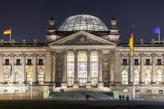Costruzioni del Parlamento di Reichstag a Berlino Fotografia Stock Libera da Diritti