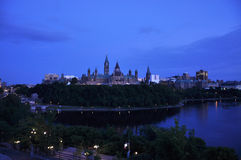 Costruzioni del Parlamento e libreria, Ottawa Fotografia Stock Libera da Diritti