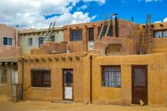 Costruzioni del pueblo Immagine Stock