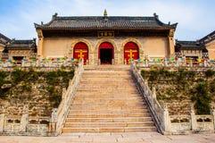 Costruzioni del tempio di Nanshan di scena di Wutaishan (supporto Wutai). Immagine Stock Libera da Diritti