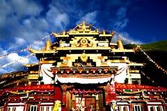 Costruzioni del Tibet della Cina Fotografie Stock
