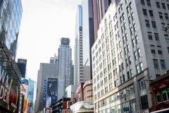 Costruzioni del Times Square Fotografia Stock