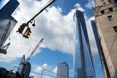 Costruzioni del World Trade Center, New York Fotografie Stock Libere da Diritti
