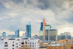 Costruzioni dell'alta carica nella capitale della Russia Fotografie Stock Libere da Diritti