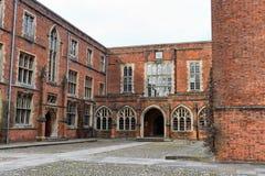 Costruzioni dell'istituto universitario all'istituto universitario di Winchester, Regno Unito Immagini Stock