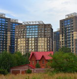 Costruzioni della città di Almaty Immagine Stock Libera da Diritti