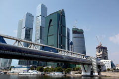 Costruzioni della città di Mosca. Fotografie Stock Libere da Diritti