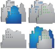 Costruzioni della città di vettore fotografie stock