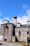 Costruzioni della distilleria di Brora con il forno Fotografia Stock