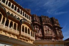 Costruzioni della fortificazione di Mehrangarh Fotografia Stock