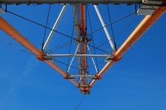 Costruzioni della gru a cingoli Fotografia Stock