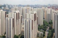Costruzioni di alloggio tipiche dell'appartamento di Singapore Fotografia Stock