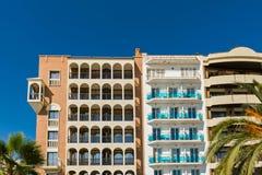 Costruzioni di appartamenti Fotografie Stock