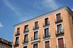 Costruzioni di appartamenti nella plaza de la Villa, Madrid de los Austrias, Madrid centrale Immagini Stock