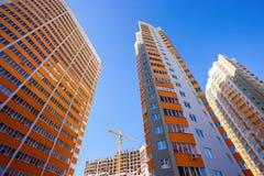 Costruzioni di appartamento alte Immagini Stock
