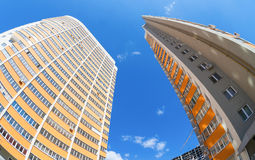 Costruzioni di appartamento alte in costruzione Immagine Stock Libera da Diritti