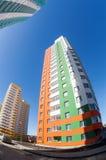 Costruzioni di appartamento alte in costruzione Fotografie Stock