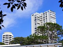 Costruzioni di appartamento bianche alte Immagine Stock Libera da Diritti