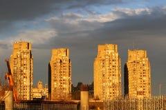 Costruzioni di appartamento in costruzione Fotografie Stock