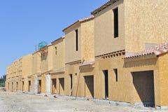 Costruzioni di appartamento del blocco per grafici di legno Fotografia Stock
