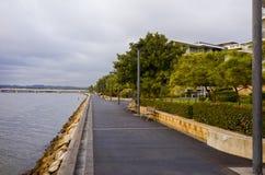 Costruzioni di appartamento della riva del fiume, Rodi, Sydney, Australia Fotografia Stock Libera da Diritti