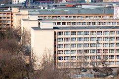 Costruzioni di appartamento dello studente di Grozavesti Fotografia Stock Libera da Diritti