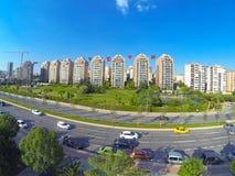 Costruzioni di appartamento di lusso di alto aumento Immagini Stock Libere da Diritti