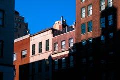 Costruzioni di appartamento di New York Fotografia Stock Libera da Diritti