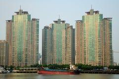 Costruzioni di appartamento di Shanghai Pudong Fotografia Stock Libera da Diritti