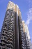 Costruzioni di appartamento gemellare Fotografia Stock