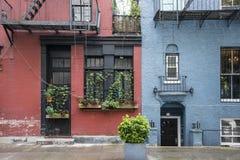 Costruzioni di appartamento, Greenwich Village, New York Fotografia Stock