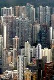 Costruzioni di appartamento di Hong Kong fotografia stock libera da diritti