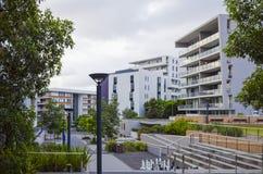 Costruzioni di appartamento, Rodi, Sydney, Australia Fotografia Stock