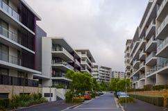Costruzioni di appartamento, Rodi, Sydney, Australia Fotografie Stock