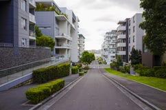 Costruzioni di appartamento, Rodi, Sydney, Australia Immagine Stock