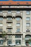 Costruzioni di appartamento sul boulevard di Magheru Fotografia Stock Libera da Diritti