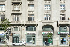 Costruzioni di appartamento sul boulevard di Magheru Fotografia Stock