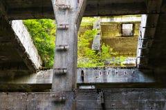 Costruzioni di calcestruzzo della miniera di latta Rolava e del campo di prigionia Sauersack Fotografia Stock Libera da Diritti