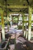 Costruzioni di calcestruzzo della miniera di latta Rolava e del campo di prigionia Sauersack Fotografie Stock