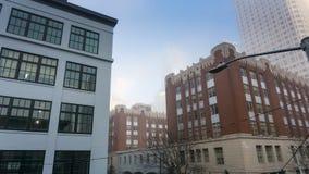 Costruzioni di centro città e orizzonte di mattina Immagini Stock Libere da Diritti