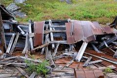 Costruzioni di estrazione mineraria sul passaggio di allevatore fotografia stock