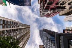 Costruzioni di Highrise a Hong Kong Fotografia Stock