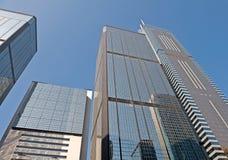 Costruzioni di Highrise a Hong Kong Fotografia Stock Libera da Diritti