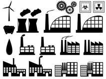 Costruzioni di industria su bianco Fotografie Stock