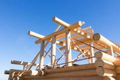 Costruzioni di legno del dettaglio Immagine Stock