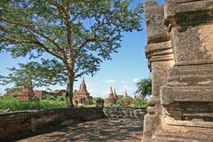 Costruzioni di mattone in Bagan fotografie stock libere da diritti