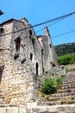 Costruzioni di pietra nella vecchia città di Ston La Croazia fotografia stock