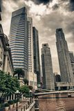 Costruzioni di Singapore Fotografia Stock Libera da Diritti