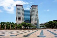 Costruzioni di vetro del grattacielo Immagine Stock Libera da Diritti