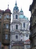 Costruzioni differenti a Praga Fotografia Stock Libera da Diritti